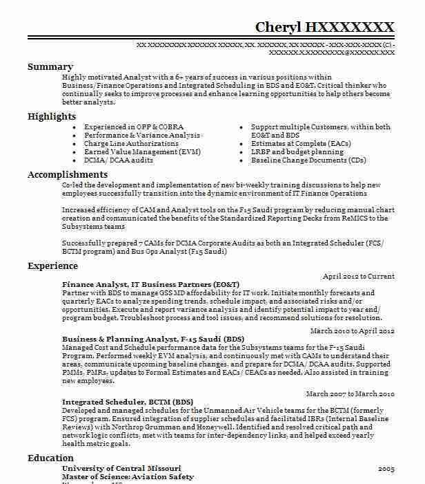 Best Analyst Resume Example   LiveCareer
