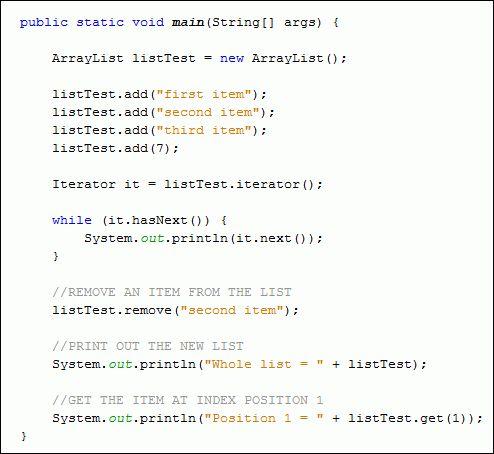 Java conslole - arrays - arraylist - Codepad