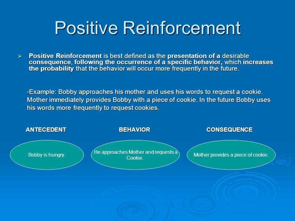 BASIC PRINCIPALS OF REINFORCEMENT TWO TYPES: -Positive ...