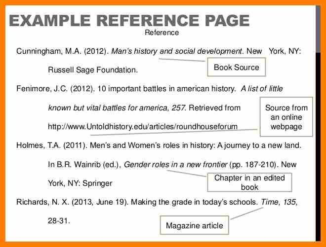 5+ apa reference page examples | science-resume