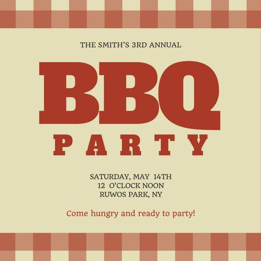 Family BBQ Reunion Invitation - Templates by Canva