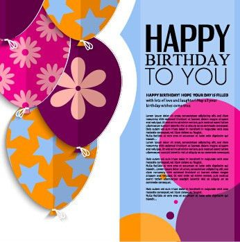 Birthday greeting card template free vector download (22,533 Free ...