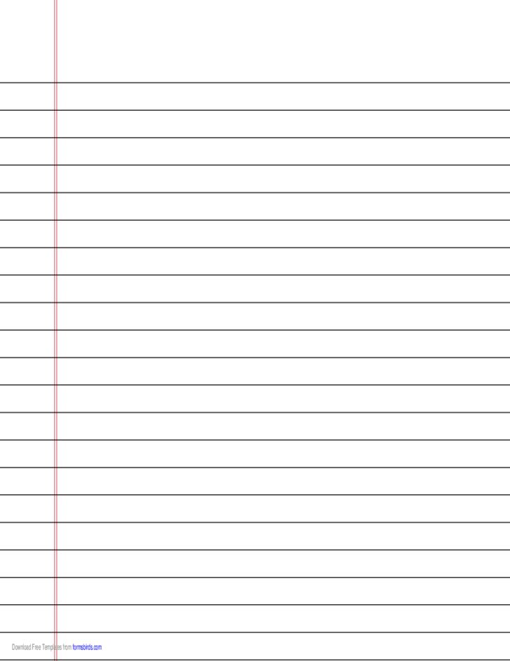 Wide-Ruled Lined Paper on A4-Sized Paper in Landscape Orientation ...