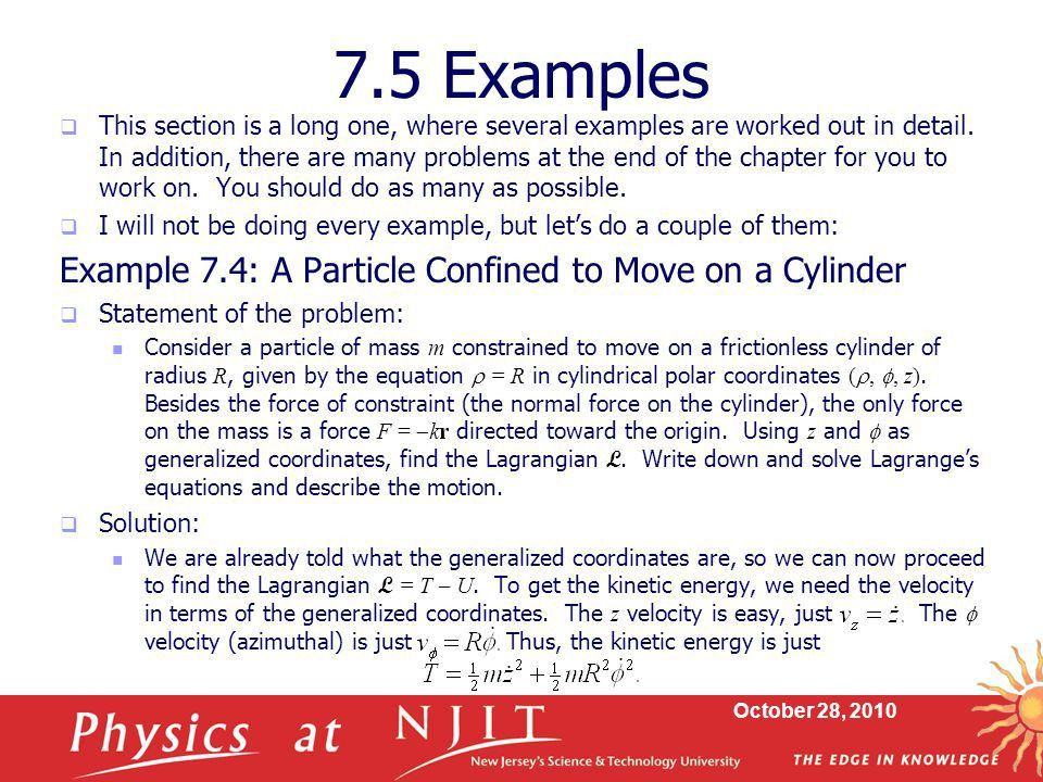 Physics 430: Lecture 17 Examples of Lagrange's Equations - ppt ...