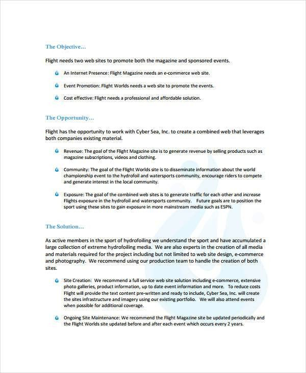 Business Proposal Format   7+ Free PDF, Word Documents Download .