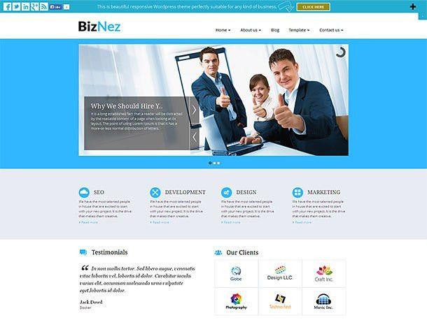 35+ Best Free WordPress Business Themes 2017 - aThemes