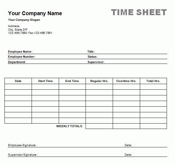 12+ free printable weekly timesheet template | ledger paper