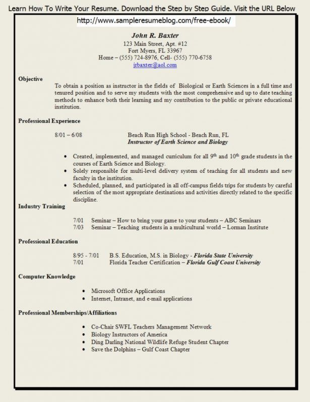 how to write a resume step by step how to write a quick resume
