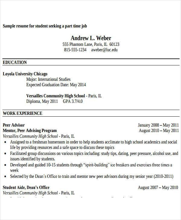 26+ Free Work Resume Templates - Free Word, PDF Documents Download ...