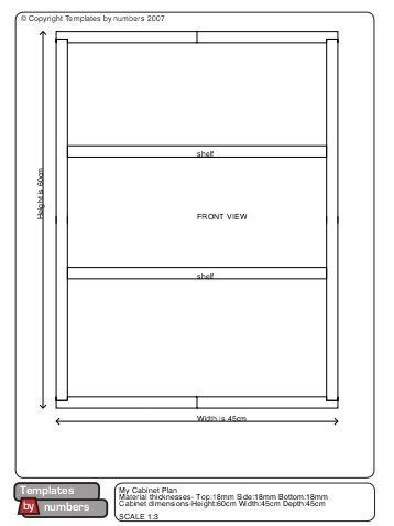 Download plan and cutting list for this cabinet - Templates by numbers
