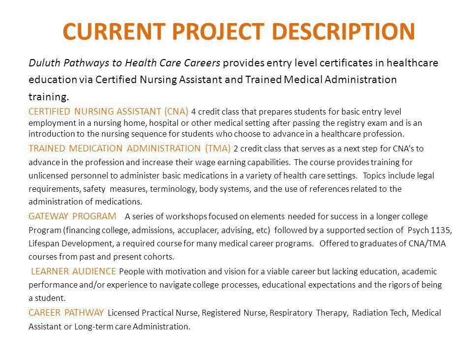 Duluth Healthcare Career Pathway INSTRUCTORS Cheryl Jost ...
