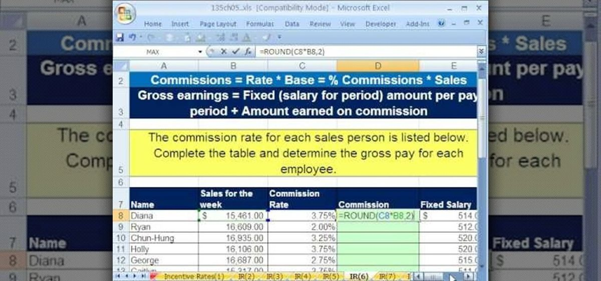 How to Calculate incentive rates by formula in MS Excel ...