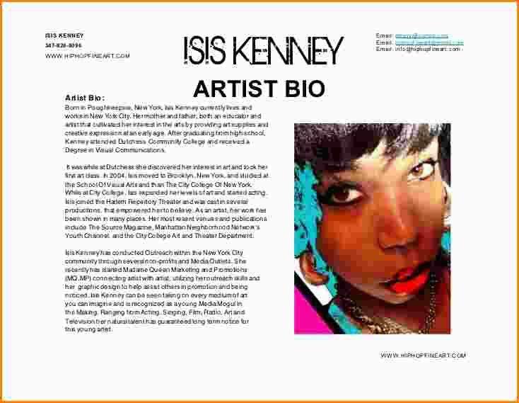 8+ artist bios samples | paradochart