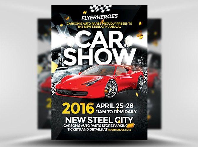 Car Show Flyer Template - FlyerHeroes