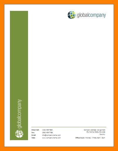 7+ letterhead format in ms word | service letters