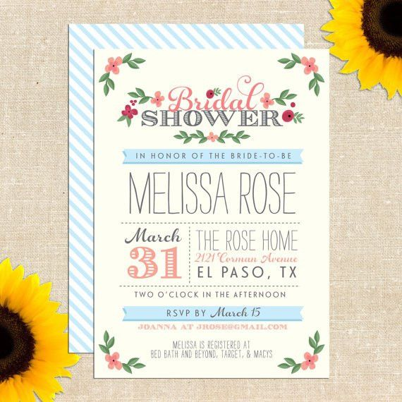Free Bridal Shower Invitation Templates - reduxsquad.Com