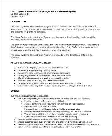 System Programmer Job Description. 21 Exciting Z Os System ...