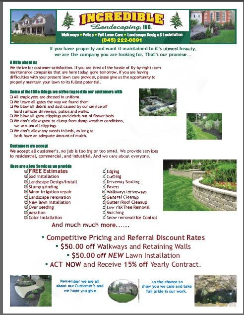 Lawn care business flyer example. | Lawn Care Business Marketing ...