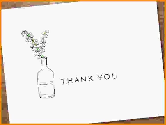 11+ free thank you card templates | Letter Template Word