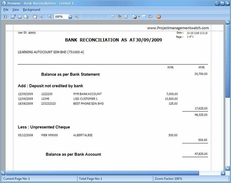 Bank Reconciliation Statement templates in Excel ...