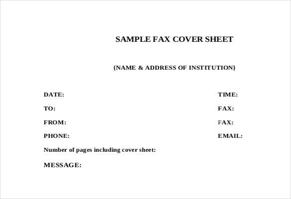 Cover Sheet Templates – 15+ Free Word, PDF Documents Download ...