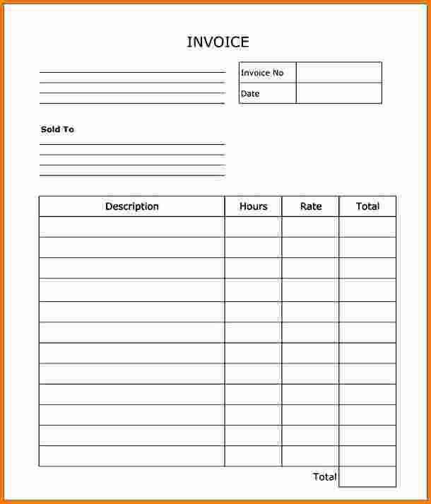 8+ blank invoice | cashier resume