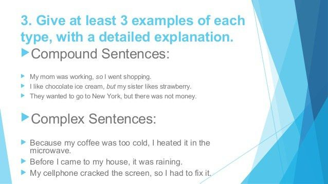 Compound and complex sentences 4