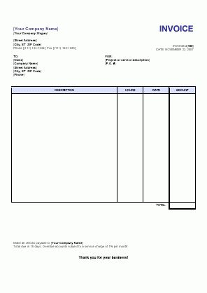 Download Invoice Format Word Free Download | rabitah.net