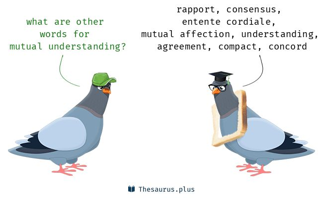 Terms Mutual understanding and Pact have similar meaning