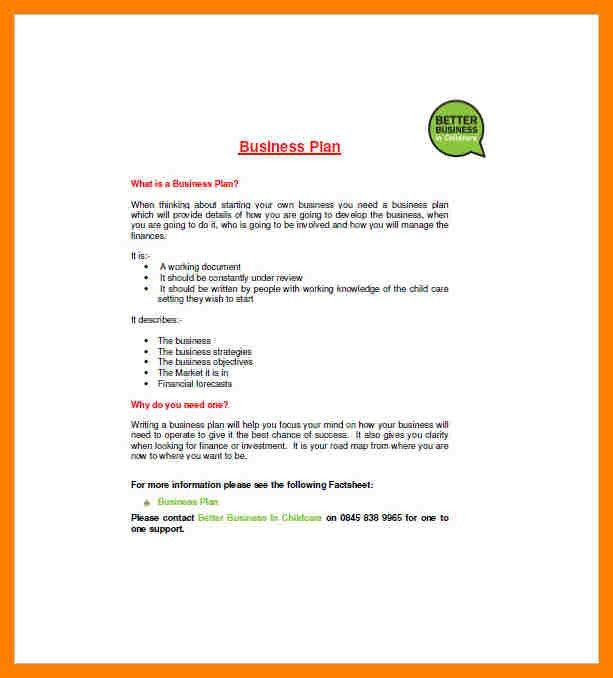 7+ daycare business plan template | packaging clerks