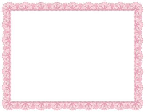 A pink certificate border. Free downloads at http://pageborders ...