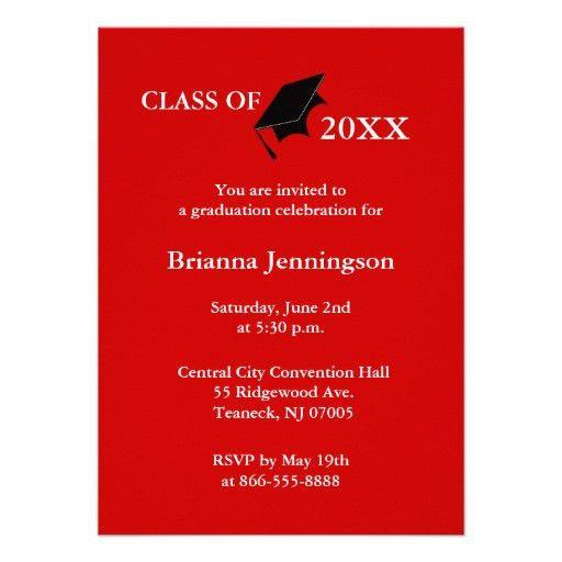 Create Graduation Invitations | afoodaffair.me