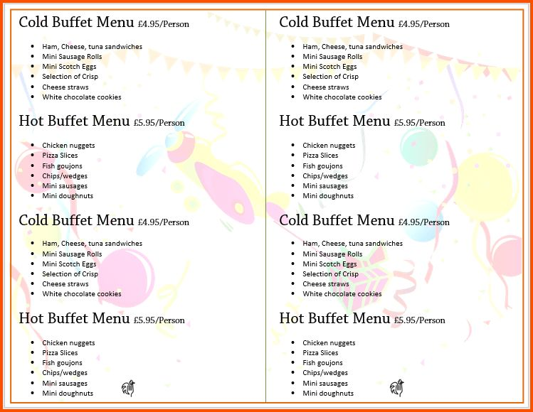 14+ menu templates for microsoft word | Survey Template Words