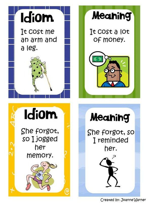 Idioms - Mrs. Warner's 4th Grade Classroom