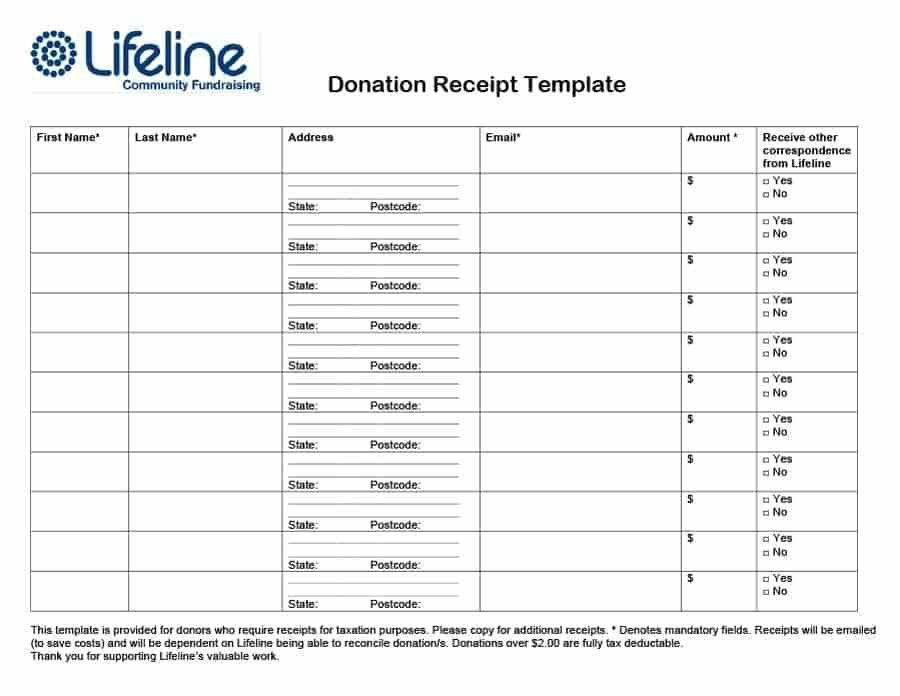 40 Donation Receipt Templates & Letters [Goodwill, Non Profit]