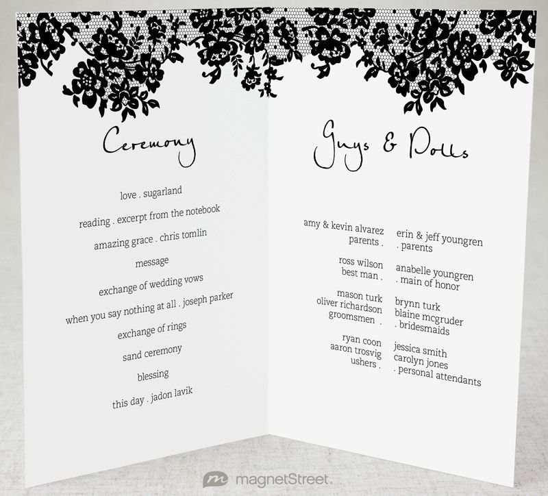 2 Modern Wedding Program and TemplatesTruly Engaging Wedding Blog