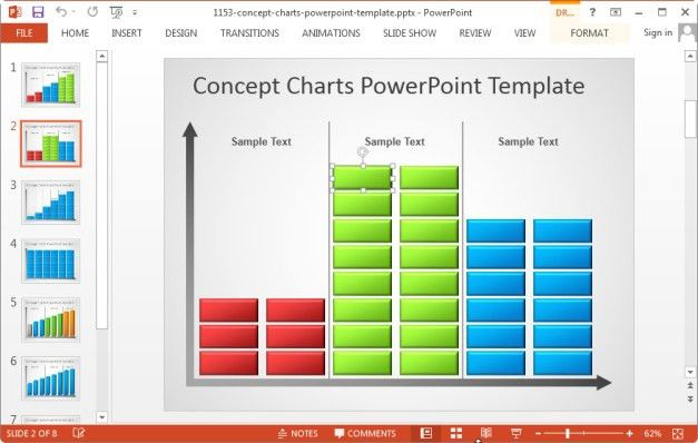 powerpoint charts and graphs templates animated graph template for ...