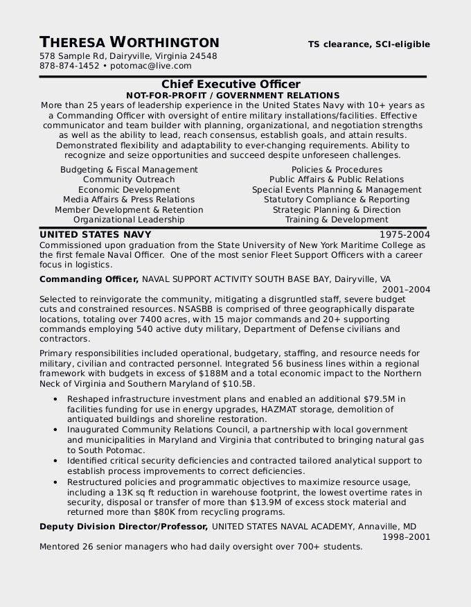 Attractive Ideas Military To Civilian Resume Examples 14 Military ...