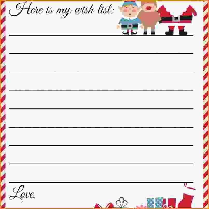10+ santa list template   Loan Application Form