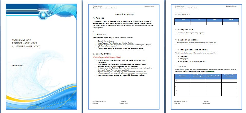 Report Template – Microsoft Word Templates