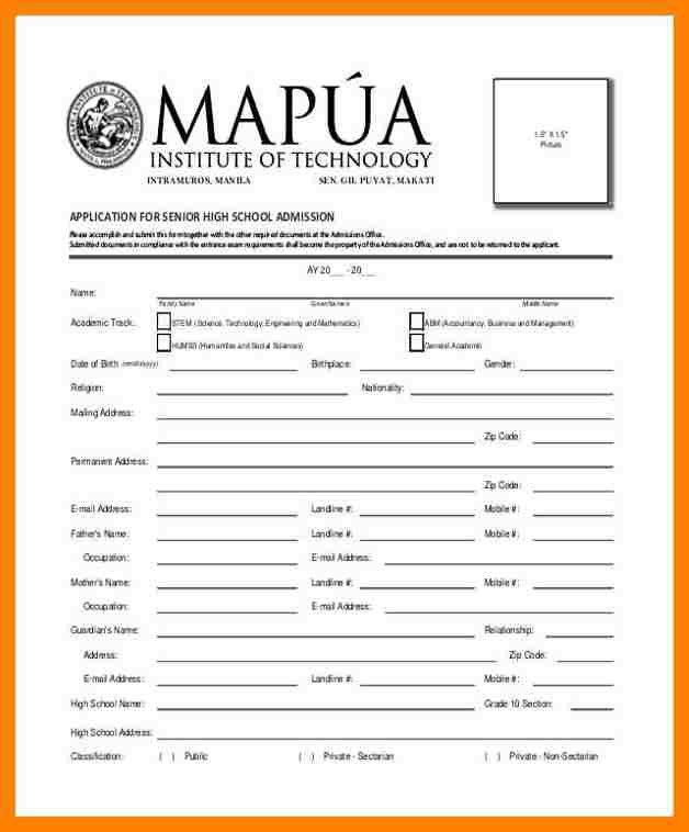 11+ school admission form format pdf | packaging clerks