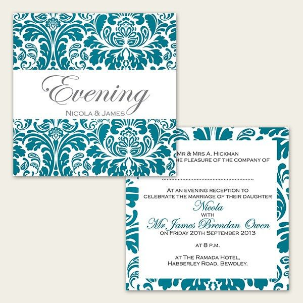 Wedding Evening Invites Template | Best Template Collection
