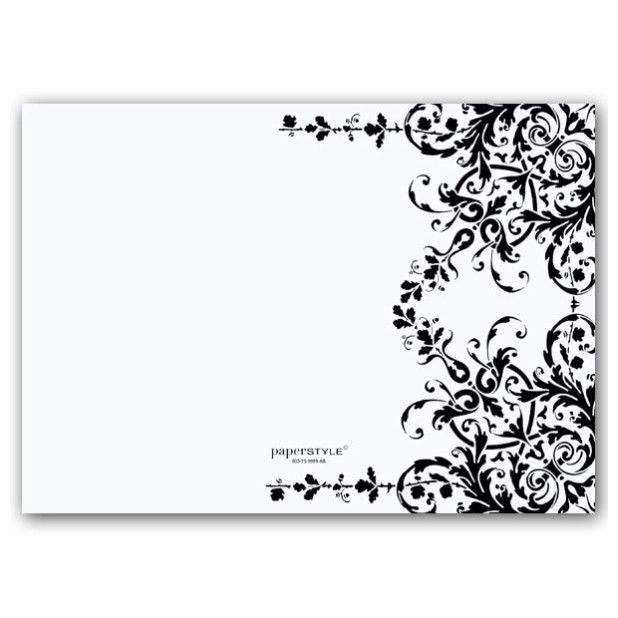 Blank Black And White Wedding Invitations Templates - Wedding ...