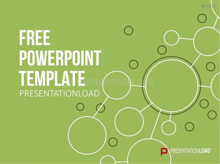 PresentationLoad | Free PowerPoint Template Green Path