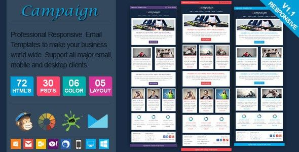 Campaign - Professional Responsive Email Template by actualpixel ...