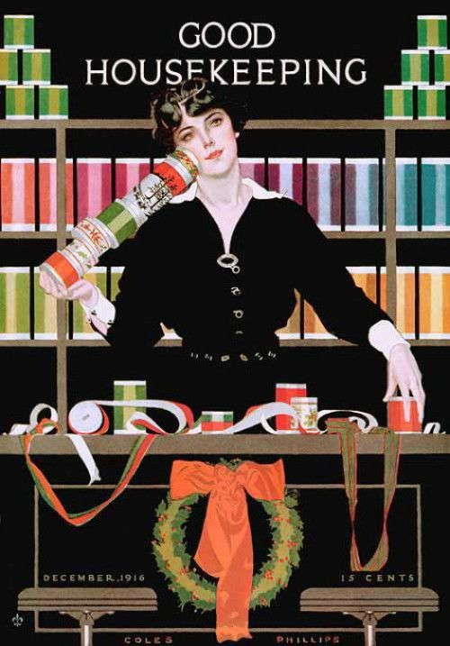 Good Housekeeping, 1916 Coles Phillips courtesy of Vintage ...