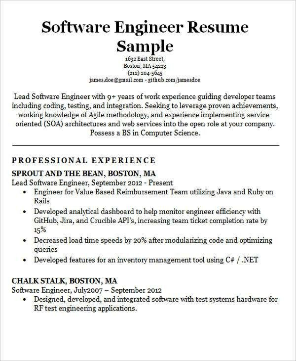 30+ Modern Engineering Resume Templates | Free & Premium Templates