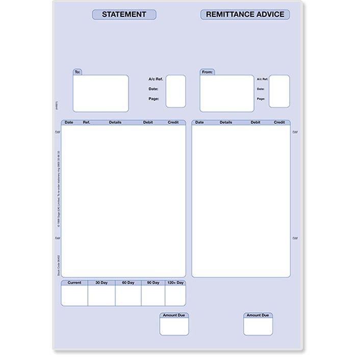 Sage Statement & Remittance Advices | Accounts Stationery | Sage ...