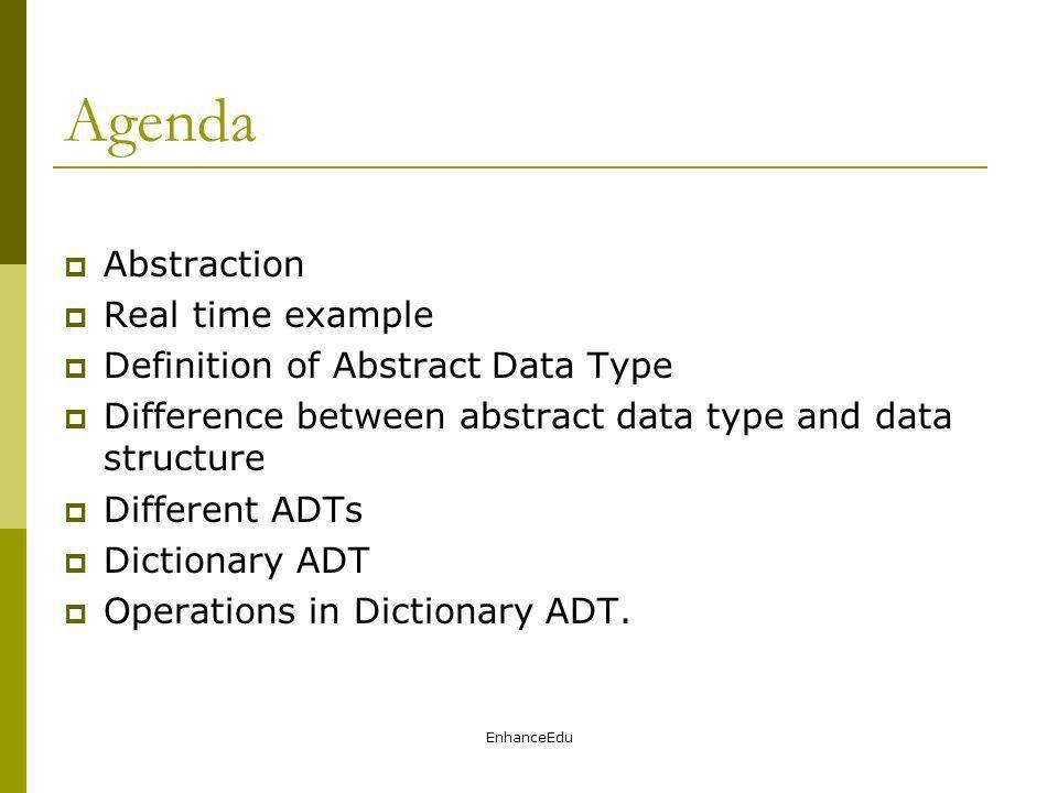 Abstract Data Type EnhanceEdu. - ppt video online download