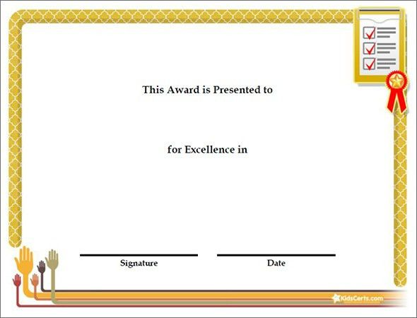 Award Certificate For Participation Template Sample : Vlcpeque